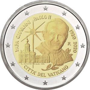 2-Commemorative-Coin-100-Birthday-John-Paul-II-Pf-IN-Original-Case