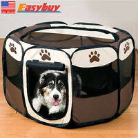 Pet Dog Puppy Folding Playpen Cage Tent Kennel Soft Exercise Fence Crate Tent