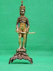 Giuseppe Vasari Estatua/Figura Soldado Bronce Plata Esterlina oro 22k (2)