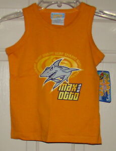 BOYS SIZE 5 MAX /& OTTO SHARK MUSCLE T-SHIRT TANK TOP NWT
