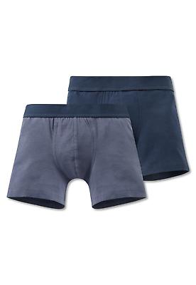 Schiesser Jungen Hip-retro Shorts 2er Pack Xs S M L 140-176 95/5 Boxershorts Jade Weiß