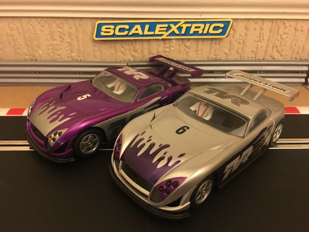 Scalextric TVR Speed 12 No5 & 6 Working Lights Fully Serviced, Excellent