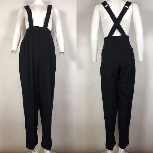 Rare Vtg Jean Paul Gaultier Black Suspender Pants