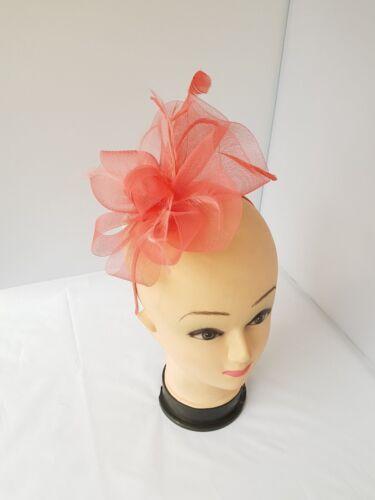 Elegant  Headband and Clip Fasinator Wedding Races Royal Ascot Occasion