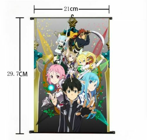 Hot Anime Sword Art Online Wall Poster Scroll Home Decor Cosplay 186 For Sale