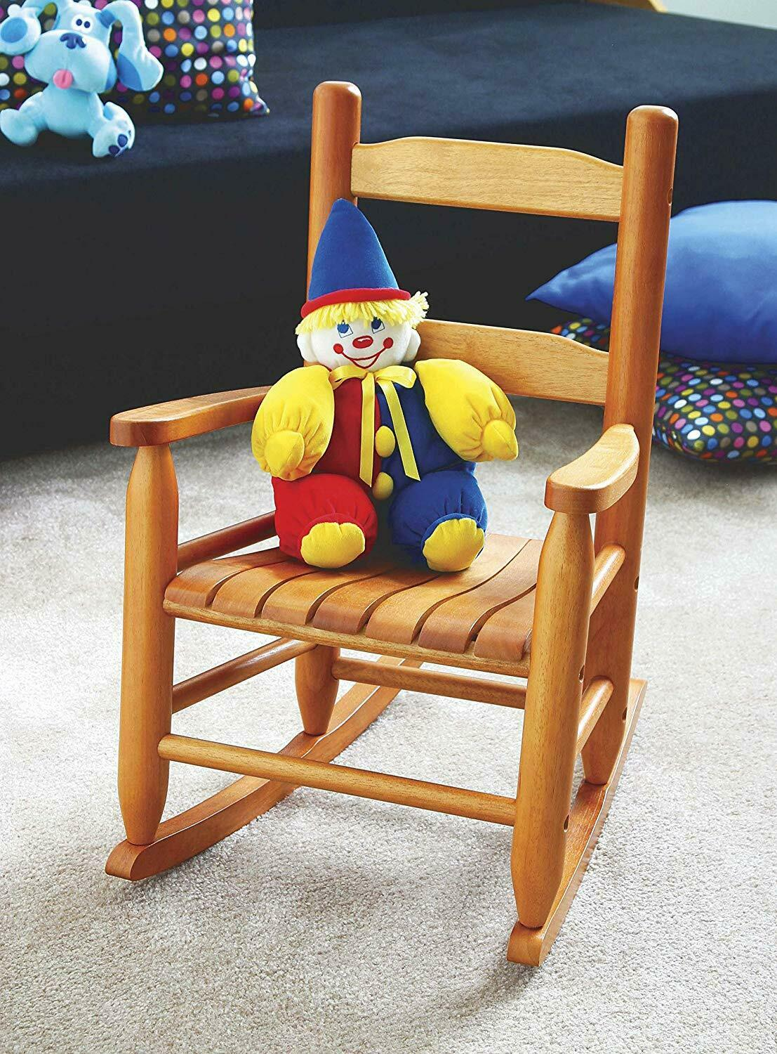 Lipper Kid Wooden Rocking Chair Children Wood Rocker Chair Oak Classic Toddler