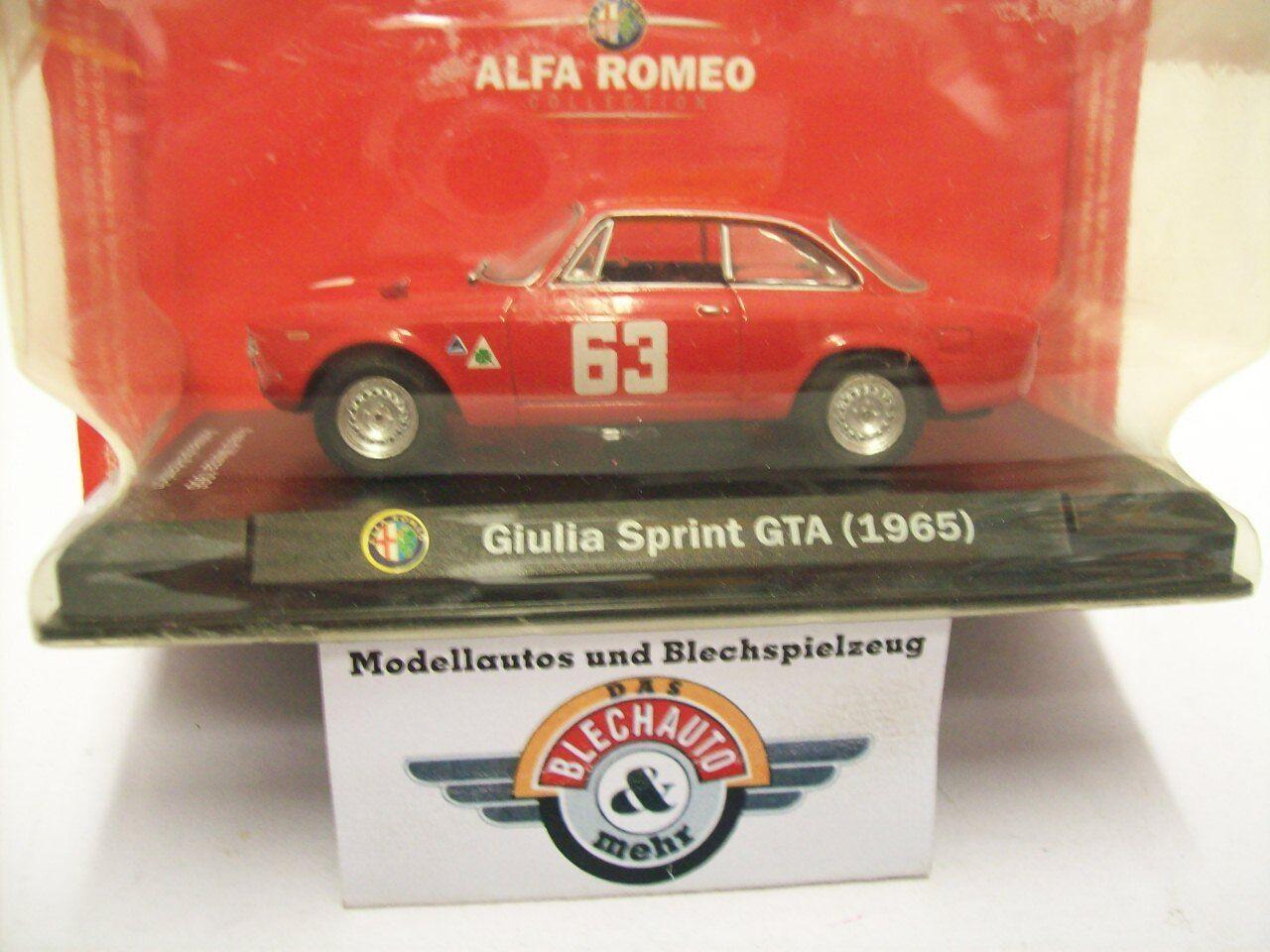 Alfa Romeo Giulia Sprint GTA  Kantenhaube , Monza 1966, red, RCS 1 43, OVP