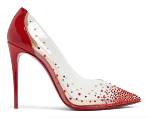 4a4113327245 NB Christian Louboutin Degrastrass PVC 100 Red 018 Patent Pigalle ...