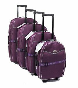 SET-OF-4-SUITCASES-LIGHTWEIGHT-WHEEL-SUITCASE-TROLLEY-CASE-TRAVEL-LUGGAGE-PURPLE