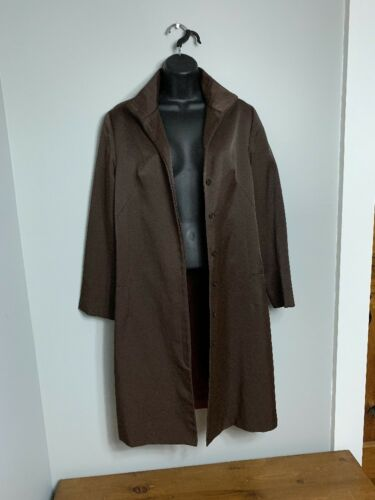 Duster Coat Size Usa Variazioni Fitted Brown Witted Shimmering made 10 FFXpI