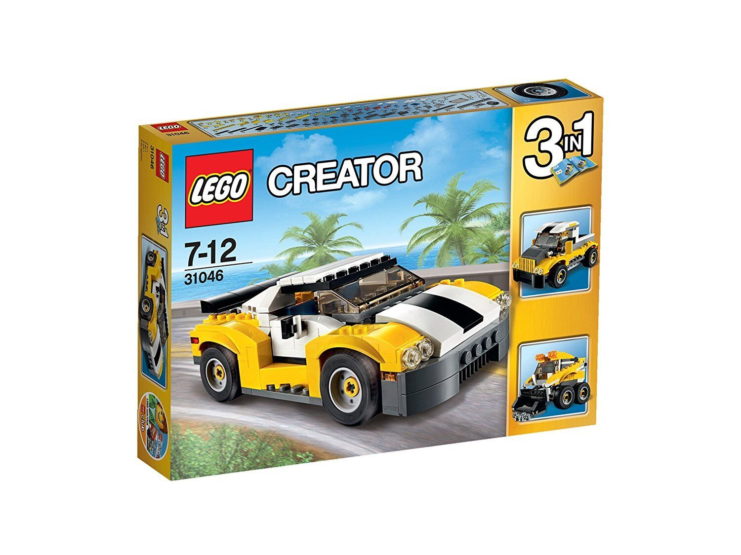 LEGO Creator  3-in-1  (31046) Fast Car (Brand New & Factory Sealed)