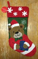 Macy's Stocking Knit Holiday Christmas Bear Sock Decoration