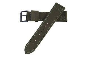 20mm-Herren-olivgruen-Cordura-Canvas-Watch-Band-Strap-schwarz-PVD-Dornschliesse-MS850