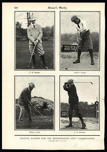 Metropolitan-Golf-champions-Hamilton-Douglas-Travis-McDonald-1901-Vintage-Print