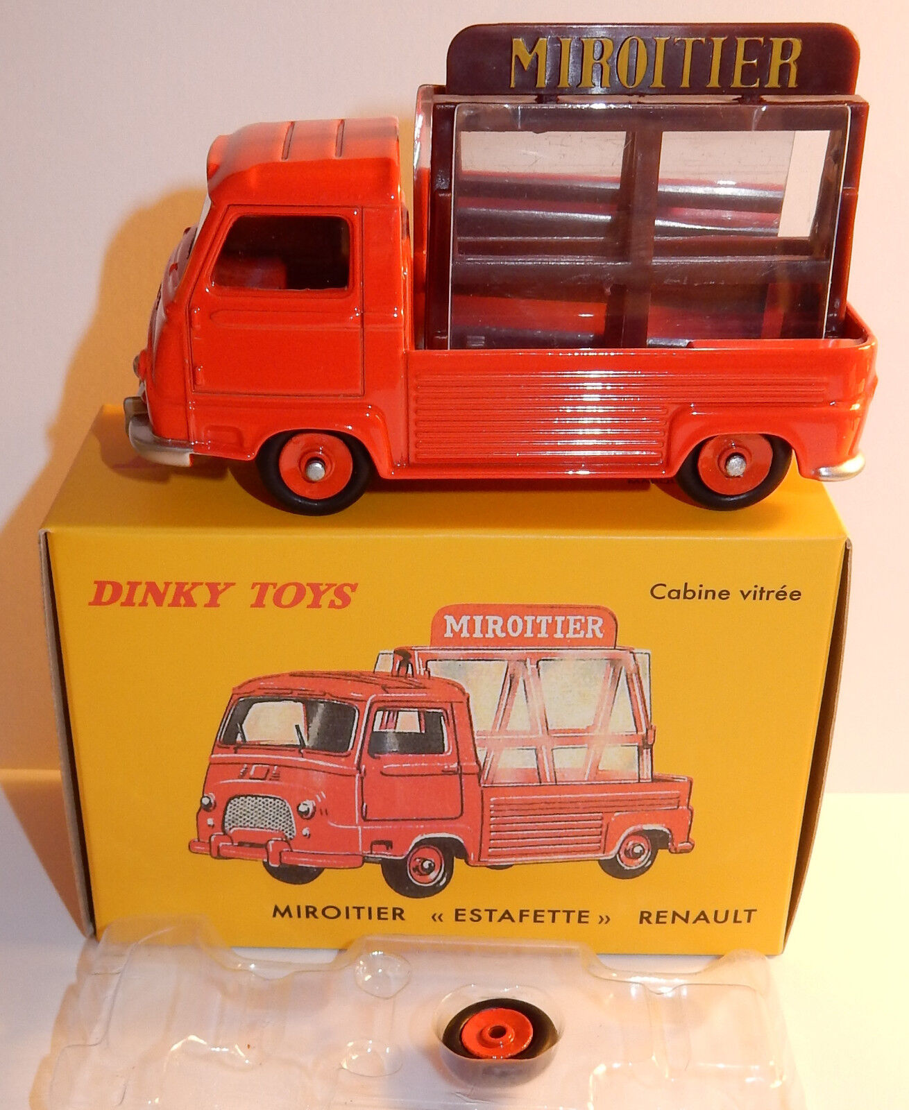 DINKY TOYS ATLAS PICK-UP RENAULT ESTAFETTE MIROITIER ROJO 1 43 REF 564 BOX bis