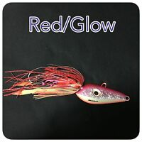 Caivo 3d Mad Dog Jigs Col:red/glow , Bottom Jigs