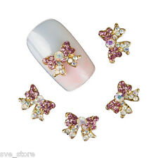 10 Pcs Butterfly Shape 3D Crystal Rhinestone Glitters For Nail Art Decoration