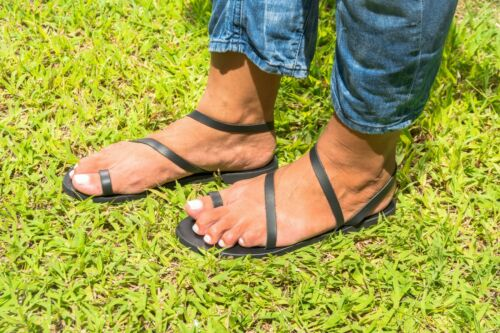 KYANIA size 6 Details about  /Greek sandals Nisyria Flat leather sandals for women