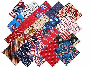20 10 Layer Cake Antique Calico Quilt Fabric Squares 1 of Each #2 20 Different Prints