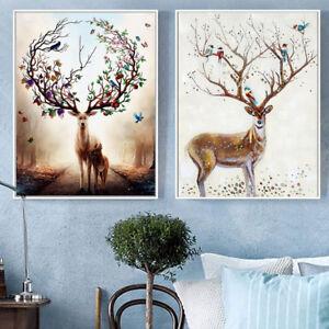 Eg-Ba-Astratto-Acquerello-Nordic-Cervo-Paesaggio-Pittura-Foto-Muro-Arte-Deco