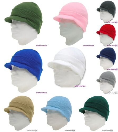 12pcs Beanie Skull Ski Skate Hat WITH VISOR Multi-Color 100/% Arylic One Size