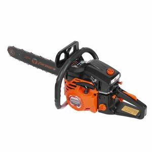 "52cc 22"" epa chainsaw cutting wood gas chain saw aluminum gasoline 2.4hp engine"