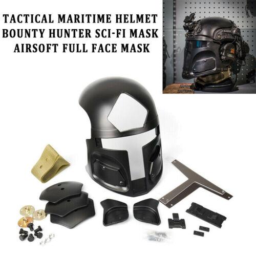 Tactical Maritime helmet bounty hunter sci-fi Mask Airsoft full Face Mask