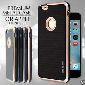 new concept da082 8ffed Details about iPhone 5 / 5s Case, Motomo Metallic Bumper TPU Case For Apple