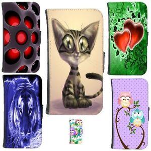 Handy-Tasche-Schutzhuelle-Flip-Cover-Case-Schutz-Huelle-Etui-Schale-Wallet-Motiv