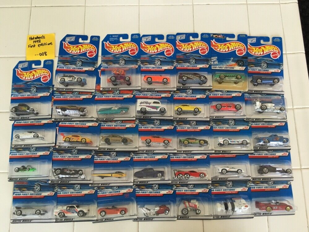 Hot Wheels 1998 First Editions Lot Of 34 Cars NEW-- 008