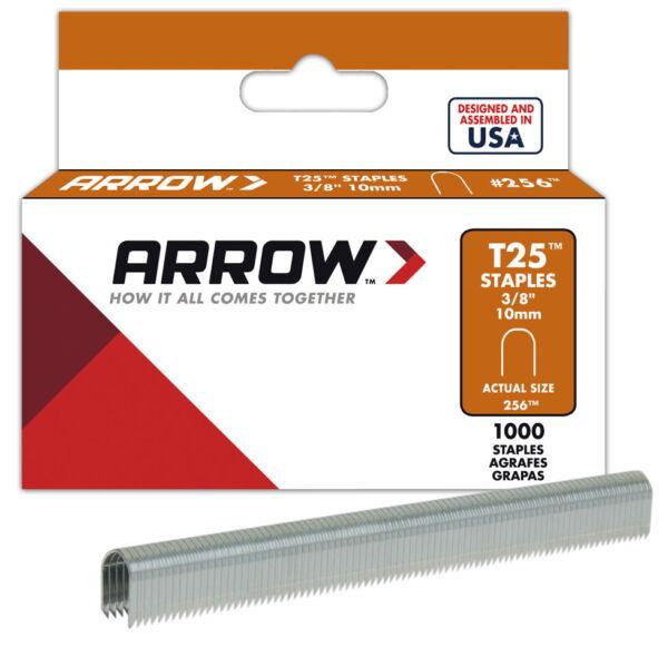 1,000-Pack 3/8 Inch Befestigungsteile & Eisenwaren Arrow Fastener 256 Genuine T25 3/8-Inch Staples