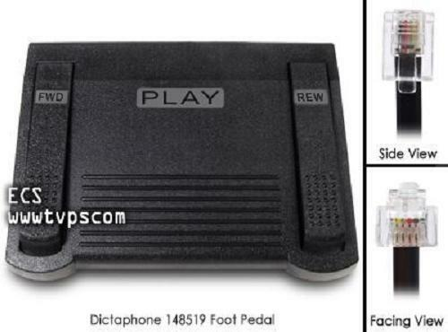 Used Dictaphone TransNet STNE 148519 Transcription Foot Pedal