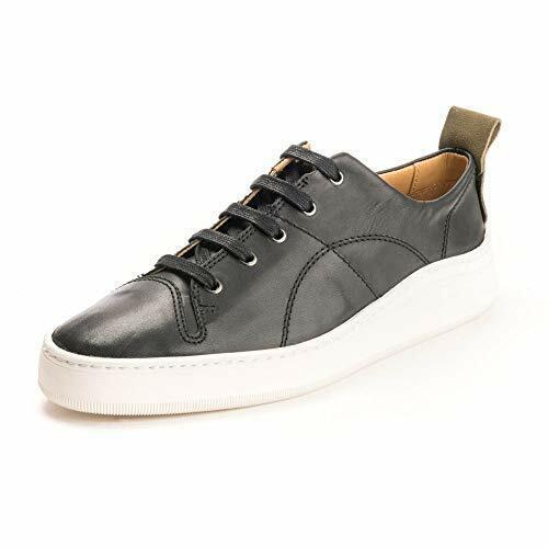 H By Hudson con Cordones Piel Negra Zapatos para Andar Plano Zapatillas 10 44