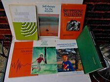 Lot of 7 BOOKS on STUTTERING SPEECH THERAPY