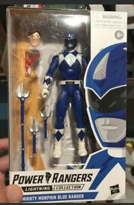"""Power Rangers Lightning Collection 6"""" Mighty Morphin Blue Ranger Billy Sealed"""