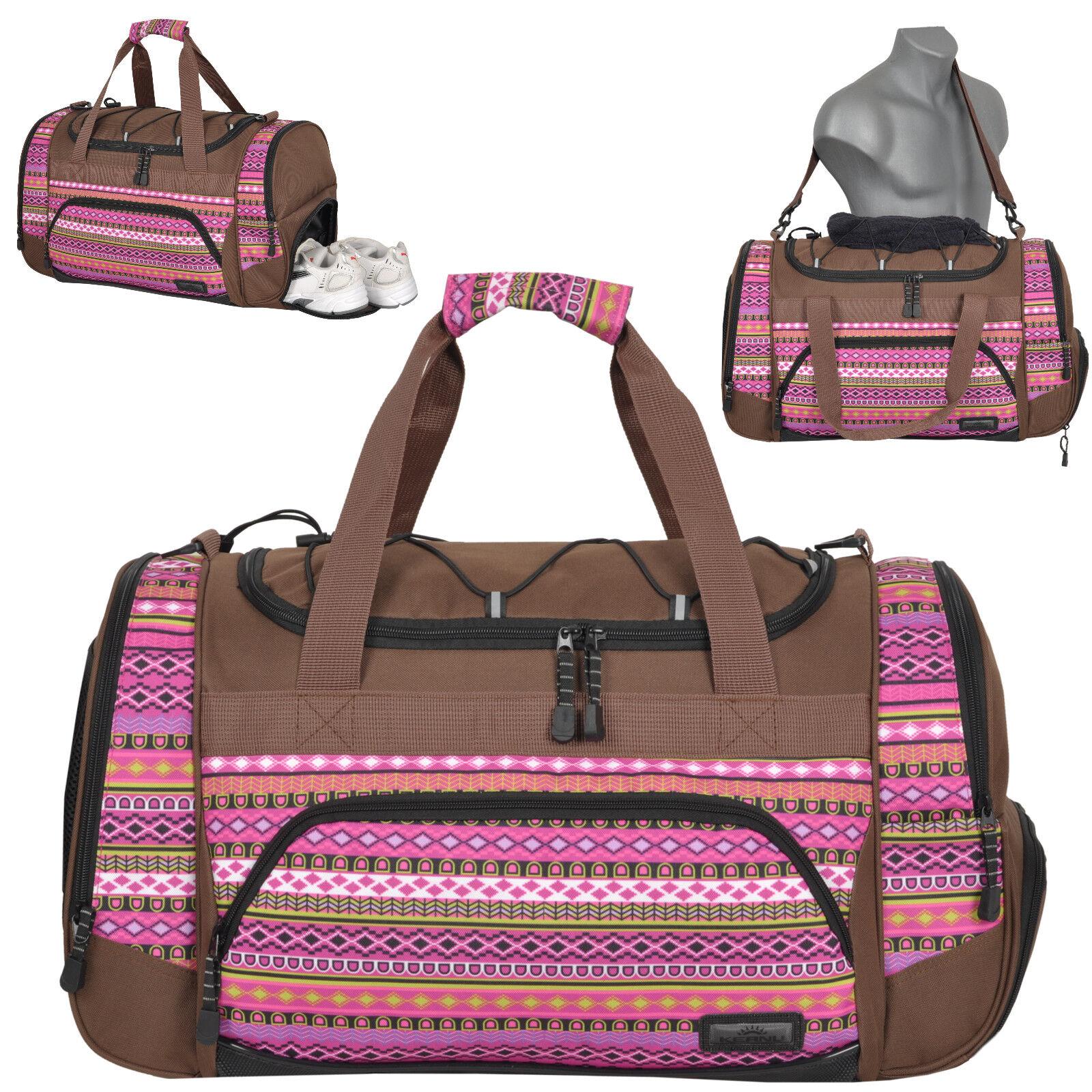 Fitnesstasche Sporttasche KEANU Gym Reisetasche Freizeit Sauna Indian Aztec Lila   Zarte    Günstige Bestellung    Verschiedene