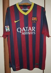634645686 Image is loading FC-BARCELONA-2013-2014-FOOTBALL-SHIRT-JERSEY-NIKE-