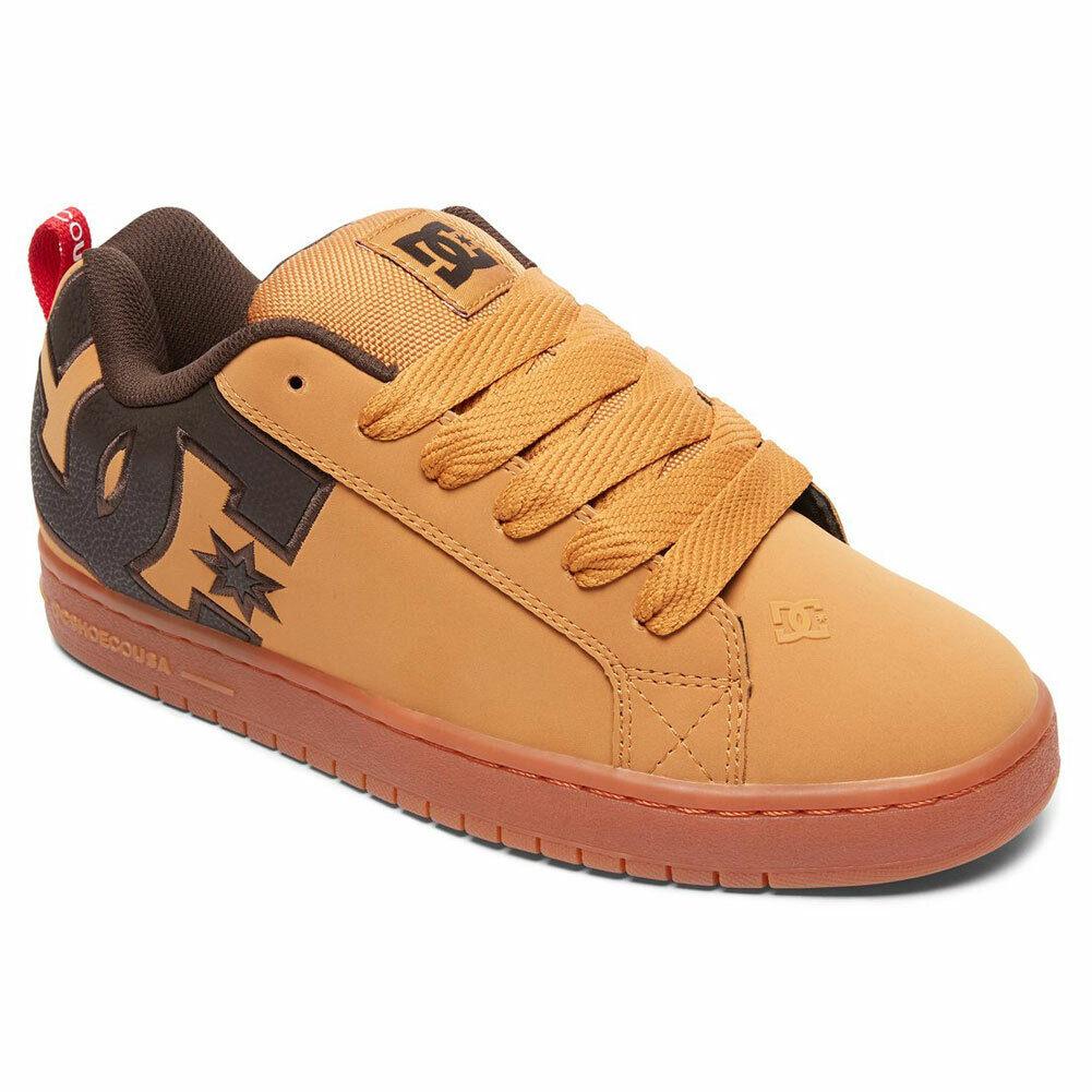 Dc chaussures Homme Court Graffik Soi Bas Haut Chaussures paniers Blé Café Turc