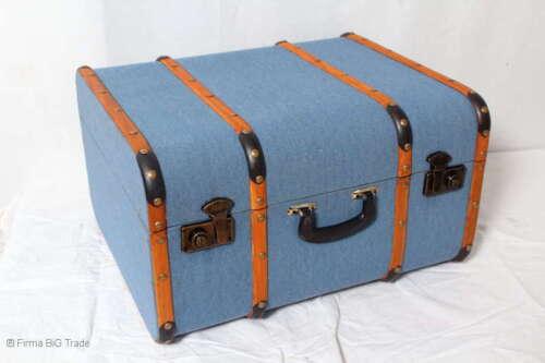 Vintage valise valise Oldtimer enfants valise bleu Baguettes//4 Tailles//M//Ant