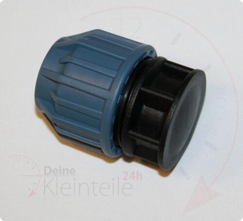 Tubo de PE plástico pp klemmverbinder klemmfitting unión roscada tapones AG PEX
