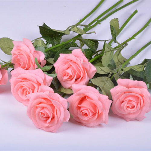 Rose Artificial Flowers Real Touch Latex Roses Wedding Bouquet Home Decoration
