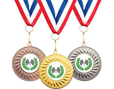 10x Football Bulk Buy Club Schools Medals 50mm Choice of ribbons  Great value!