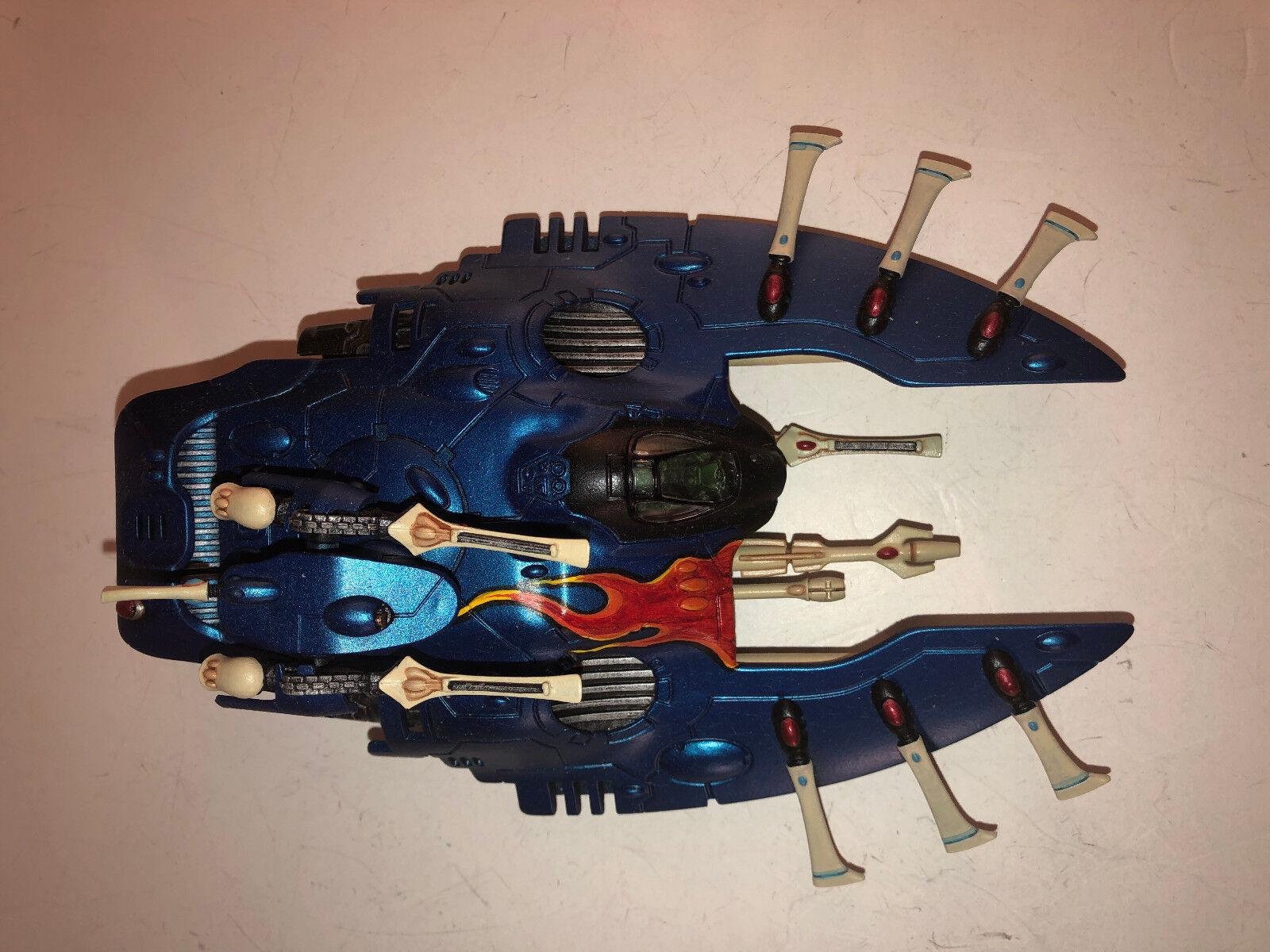 Warhammer 40000 40k Aeldari Eldar Wave Serpent painted 8.5 10 11518 A