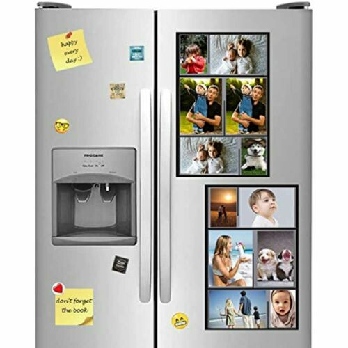 Magnetic Collage Picture Frames For Refrigerator 2x3 Inches Photo, Holds 4x6