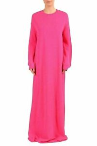 Dsquared2-Pink-Knitted-Long-Sleeve-Women-039-s-Maxi-Dress-US-XS-IT-38