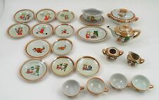 23 Pc 1930s MIJ Lustreware Little Orphan Annie Sandy Child's Pretend Play Dishes
