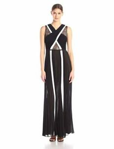 AUTH-498-BCBG-MAX-AZRIA-Caia-Sleeveless-Color-Blocked-Gown-Size-4-6