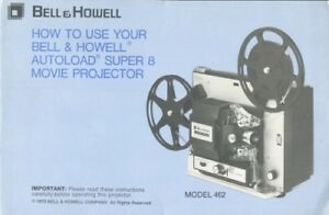 Details about Bell & Howell Autoload 462 Projector Instruction Manual