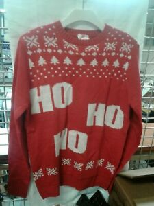 Clausplay-Rubies-HoHoHo-Red-Christmas-Sweater-Size-Small-Out-Of-Package