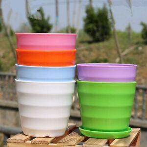 Pladtic-Garden-Flower-Pot-Balcony-Planter-Round-Flower-Holder-Basket-Home-Decor